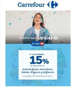 -15% Chequeahorro Día del Club Carrefour