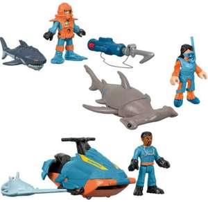 Fisher-Price Imaginext pack de figuras de buceo con tiburones
