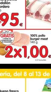 2Hamburguesas de pollo+ 2 panes gratis