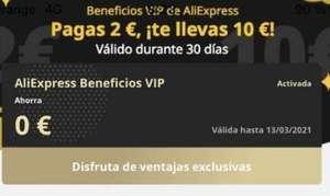 Descuentos y beneficios en AliExpress 2€=10€