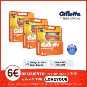 3X4 Gillette Fusion 5 desde España Tienda oficial Gillettette