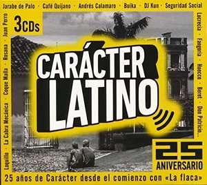 """CARÁCTER LATINO - 25 ANIVERSARIO (3 CDs - 60 canciones) Gran Homenaje a """"La flaca"""""""