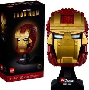 LEGO Marvel Casco de Iron Man. Set de Construcción y Exposición