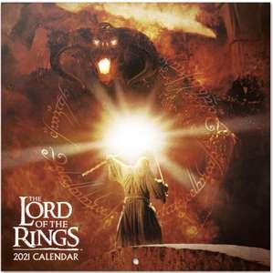 Calendario de pared 2021 El Señor de los Anillos, 30x30 cm, Producto Oficial (Incluye póster de regalo)