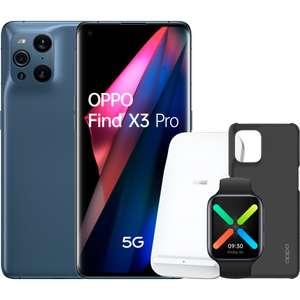Pack PRECOMPRA Oppo Find X3 Pro + Oppo Watch 46mm + Wireless Charger SuperVooc 30W + Funda de fibra de carbono
