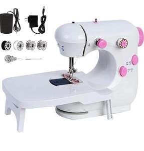 Máquina de coser portátil luz nocturna ajustable 2 velocidades