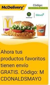 McDonald's envío gratis con Glovo