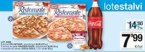 Lote: 2 pizzas dr.oetker + tarrina Häagen-Dazs variedades + 1 coca-cola 1,25lt en supermercados bonpreu