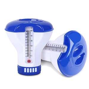 2 dispensador de cloro para piscinas con termómetro