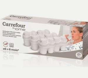 Pack 6 Filtros Jarra Brita marca Carrefour