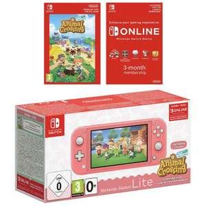 Nintendo Switch Lite + Animal Crossing + 3 meses Switch Online por solo 209€