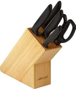 ARCOS Juego de Cuchillos de Cocina + Tijeras, Acero Inoxidable Nitrum (Mínimo)
