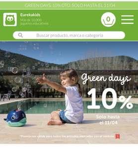 GREEN DAYS EN EUREKAKIDS (10% descuento juguetes)