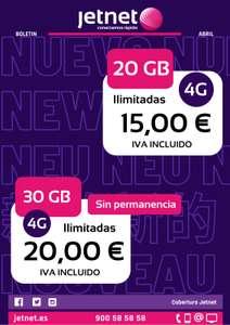 30GB+ilimitadas x 20€
