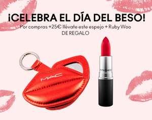 Día del beso en Mac Cosmetic por compras de 25€ o más labial del clásico Ruby de Regalo