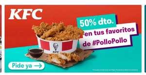 50 % de descuento en KFC en DELIVEROO