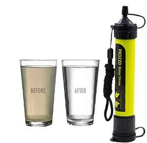 Filtro de Agua Personal, Sistema de Filtración Mini, Purificador Portátil para Excursionismo,