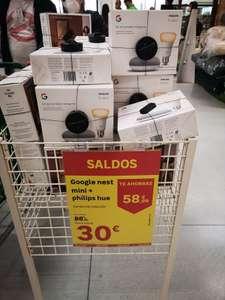 Google Nest mini + philips hue [Leroy Merlin Madrid]