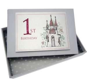 Álbum de fotos para bebé (tamaño pequeño), diseño de primer cumpleaños y castillo