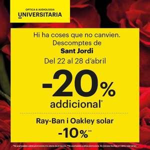 20% descuento adicional en optica universitaria (Cataluña)