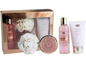 Caja de belleza de baño con una esponja eva - Rosa
