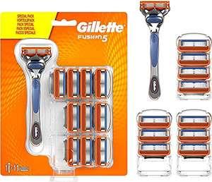 Amazon: Maquinilla de afeitar Gillette Fusion con 11 recambios sólo 26.94 euros.