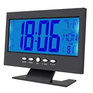 Reloj despertador digital LCD activado por sonido