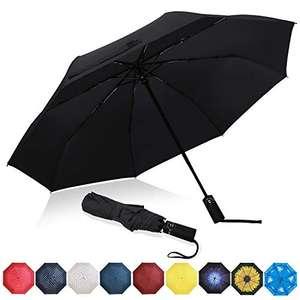Paraguas Plegable, Automático Impermeable, Paraguas de Viaje Compacto a Prueba de Viento
