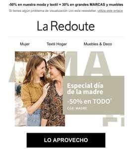 -50% en moda y textil y 30% en grandes marcas y muebles