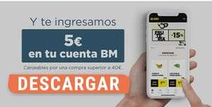 5€ en Supermercados BM al descargar la app