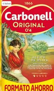 "LEER HASTA ÉL FINAL. Aceite de oliva suave 0,4º Carbonell garrafa 5 l. ""BAJADA DE PRECIO""."