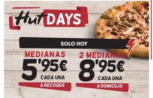 pizza mediana(hasta 5 ingredientes) y llévatela por 5,95€.