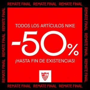 50% en ropa Nike Sevilla FC