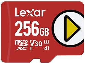 Tarjeta Lexar Play 256GB microSDXC UHS-I, hasta 150MB/s de Lectura