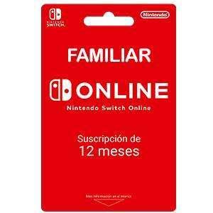 Nintendo Switch Online Familiar 12 meses (8 cuentas, +3,50€ gratis puntos de oro)