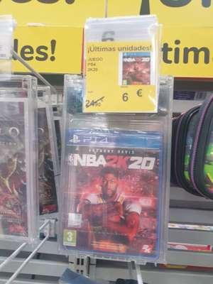 Carrefour Almeria juego PS4 NBA 2K20