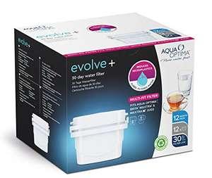 1 Pack de 12 cartuchos de filtros de agua (compatibles con Brita) Aqua Optima.