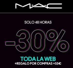 MAC COSMÉTICOS 30% EN TODA LA WEB
