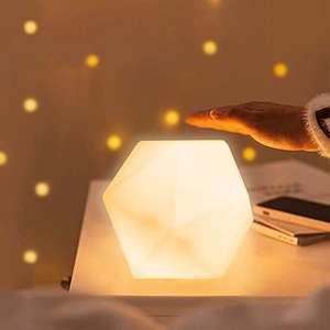 Lamparita de mesita de noche, con 10 colores y 3 ajustable de brillo portátil recargable por USB. También Pack de 2 .