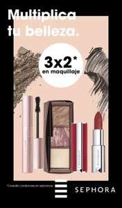 3x2 en una amplia selección de maquillaje en Sephora