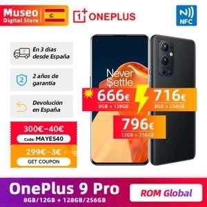 OnePlus 9 Pro, ROM global con Oxygen OS, 8GB RAM 128 GB ROM (aliexpress plaza) envio desde españa