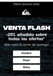 Ofertas flash con hasta el 60% de descuento.Hombre mujer y niñ@s