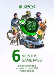 6 meses de Xbox Game Pass