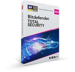 Bitdefender Total Security hasta 5 dispositivos / 1 año