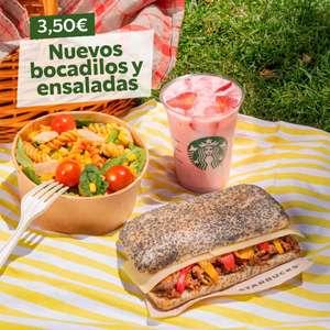 Nuevas ensaladas y bocadillos a 3.50 euros en Starbucks