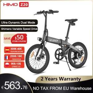 HIMO-Bicicleta Eléctrica Z20 plegable, e-bike de 250W