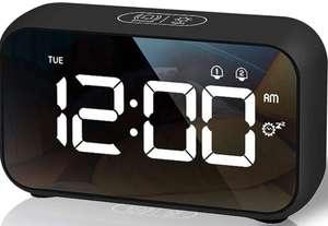 Reloj Despertador Digital, 4 Niveles de Brillo Regulable (Colores disponibles)