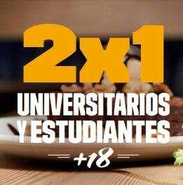 FOSTER'S HOLLYWOOD :: 2x1 si eres estudiante de fp o universidad
