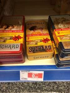 2 Tabletas de turrón Suchard + caja metálica (Hipercor Santiago)