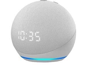 Altavoz inteligente con Alexa - Amazon Echo Dot (4ª Gen) con Reloj, Controlador de Hogar, Blanco